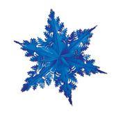 Decorations / Hanging Decorations Blue Metallic Winter Snowflake Image