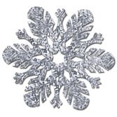 Christmas Decorations Silver Prismatic Snowflake Image