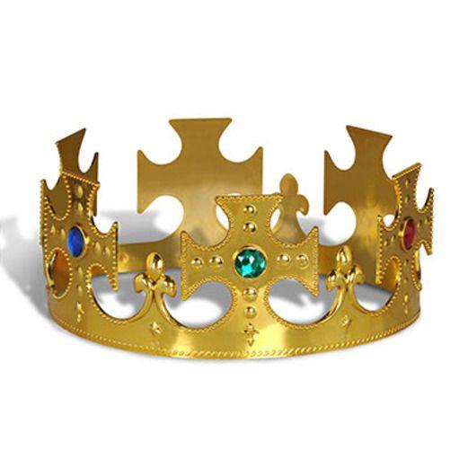 Mardi Gras Hats & Headwear Gold Plastic Kings Crown Image