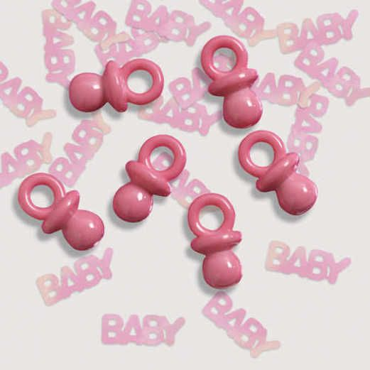 Baby Shower Decorations Its a Girl Button Confetti Image