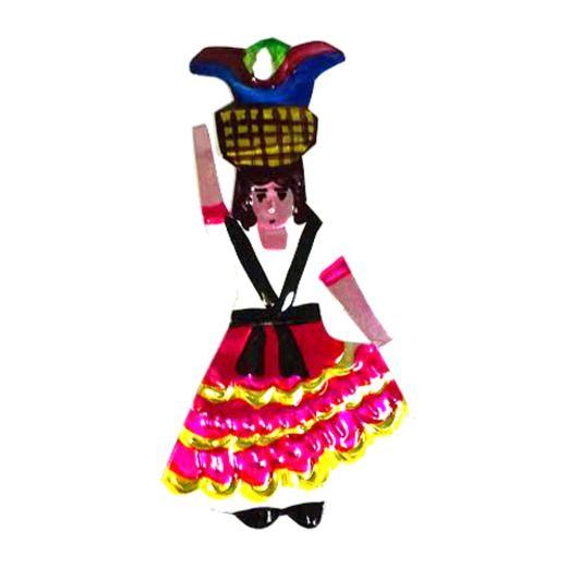 Indita Tin Ornament