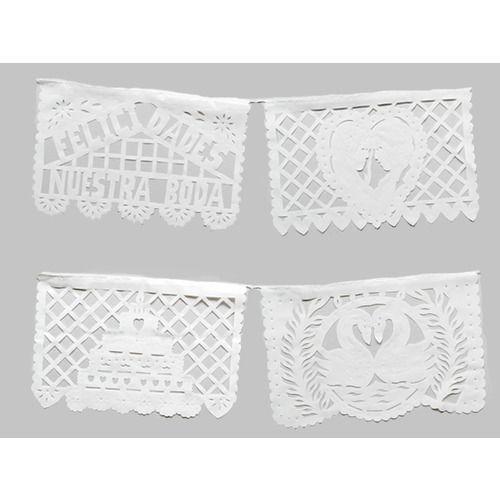 Medium Wedding Plastic Picado