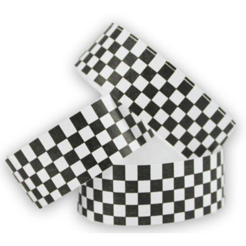 Tyvek Wristbands Black-White Checkerboard