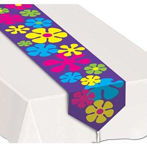 Retro Flowers Table Runner