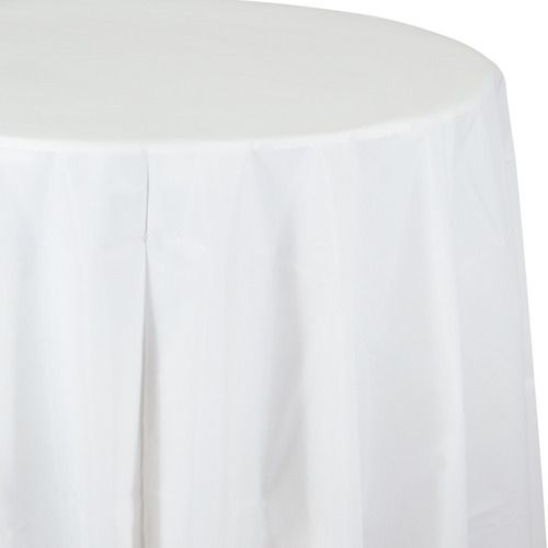 Round Table Cover White