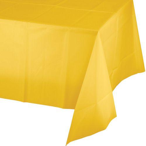 Rectangular Table Cover Golden Yellow