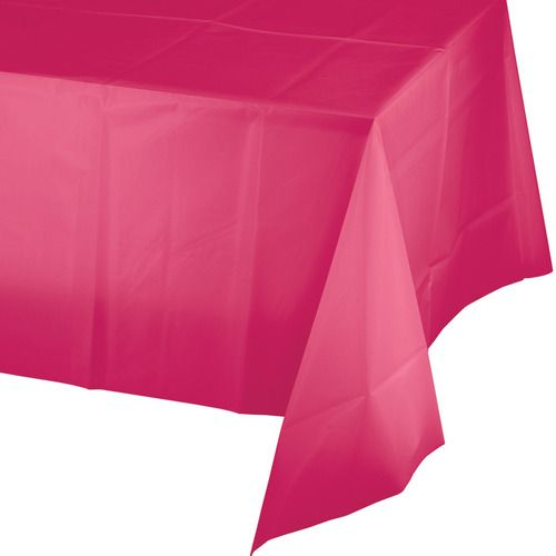 Rectangular Table Cover Hot Pink