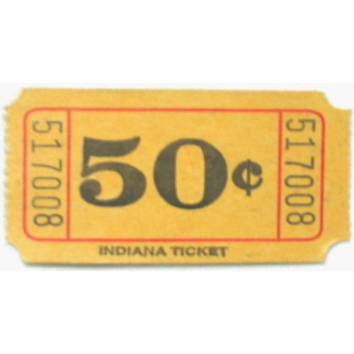 Yellow 50 Cent Ticket Roll
