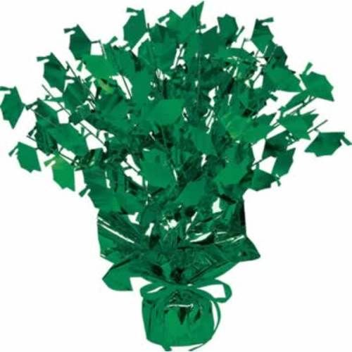 Green Graduation Cap Centerpiece