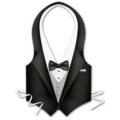 Plastic Tuxedo Vest