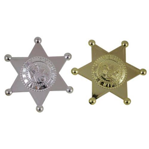 Plastic Sheriff's Badges