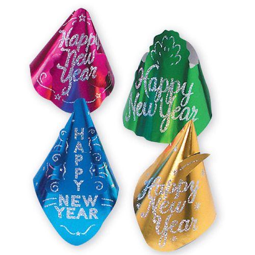Happy New Year Glittered Hat