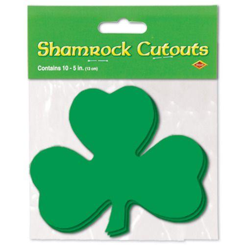 "5"" Packaged Shamrock Cutouts"