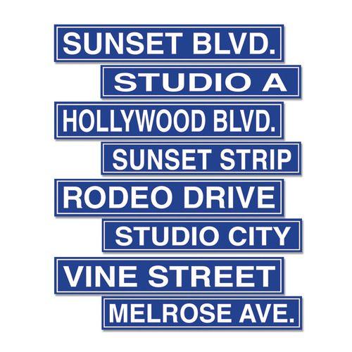 Hollywood Street Sign Cutouts