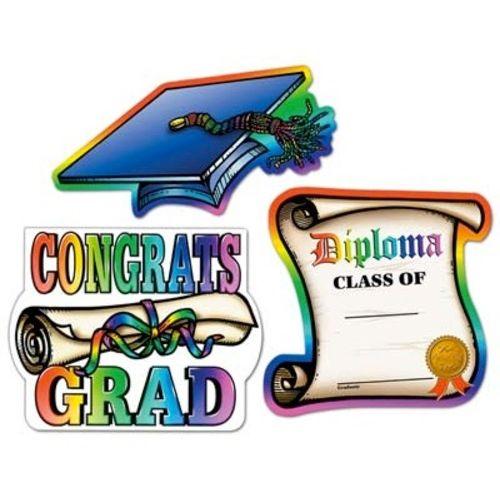 Multicolor Graduation Cutouts