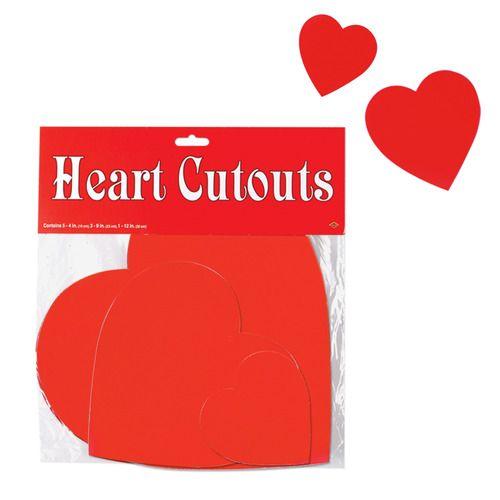 Printed Heart Cutouts