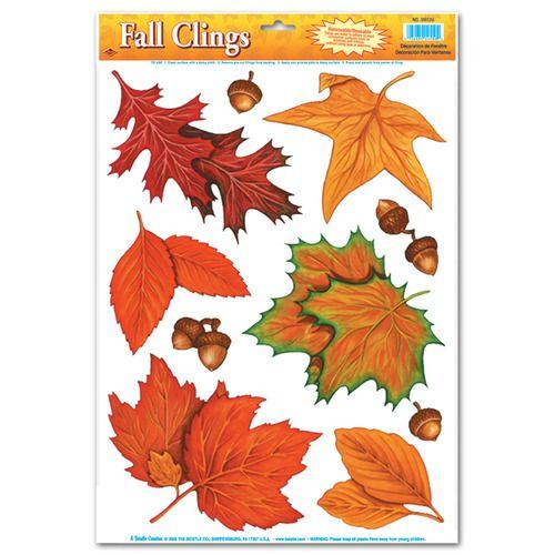 Fall Leaf Glass Clings