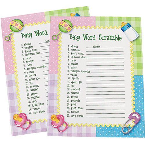 Baby Word Scramble Game