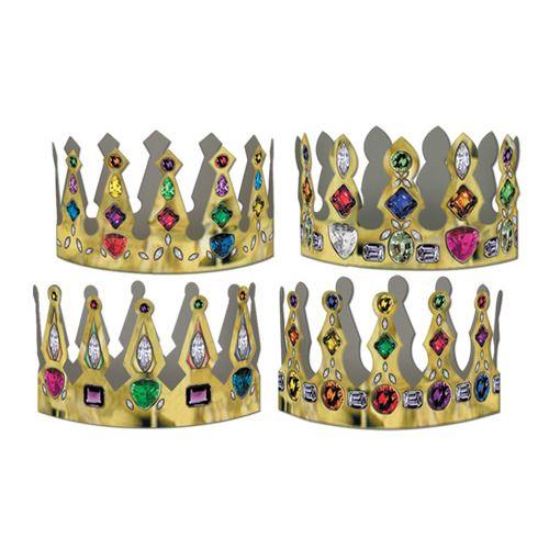 Printed Jeweled Crown