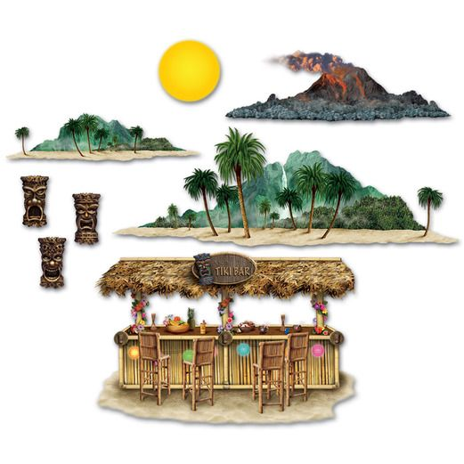 Luau Decorations Tiki Bar & Island Props Image