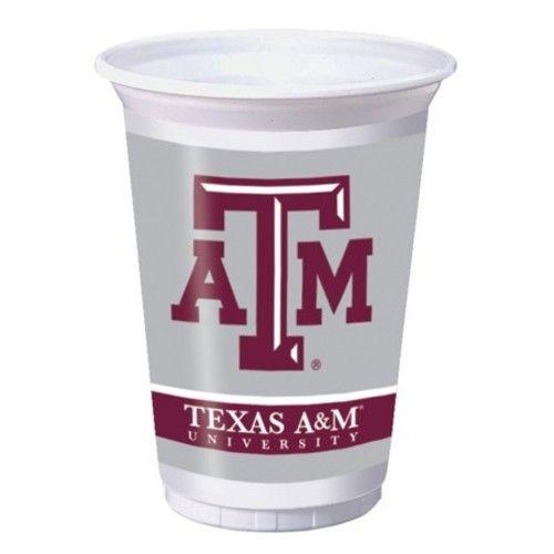 Texas A&M Plastic Cups