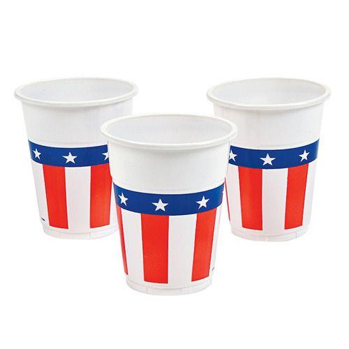 USA Flag Plastic Cups