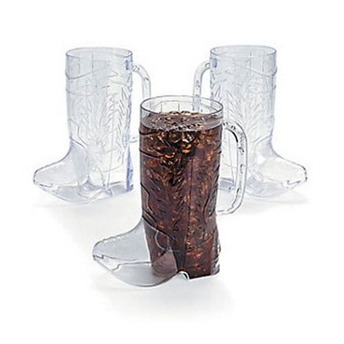 Cowboy Boot Clear Mugs