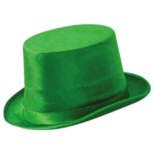 Green Vel-Felt Top Hat