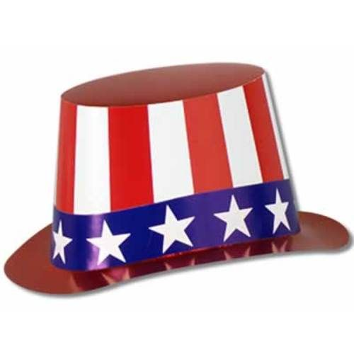 Red, White and Blue Top Hat