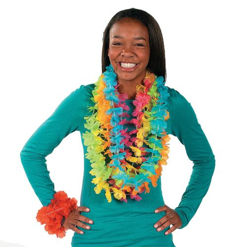Bright Color Flower Lei