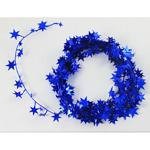 4th of July Decorations Blue Star Wire Garland Image