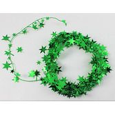 St. Patrick's Day Decorations Green Star Wire Garland Image