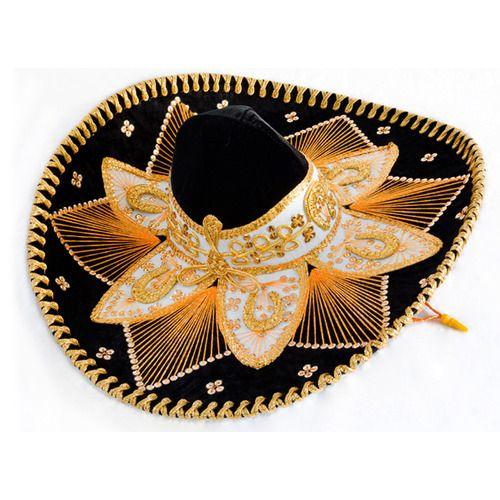 Black and Gold Mariachi Sombrero