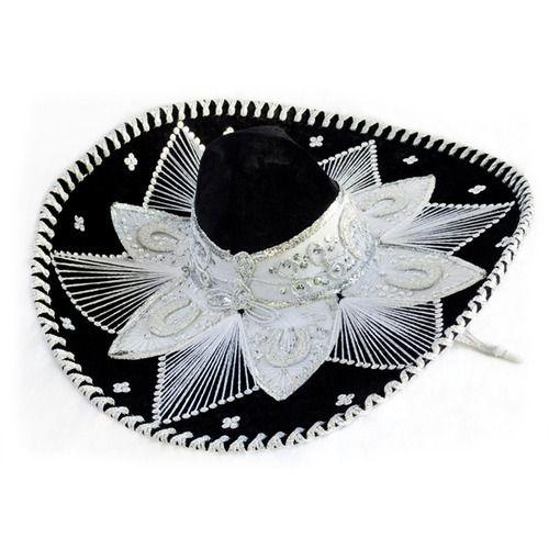 Black and White Mariachi Sombrero