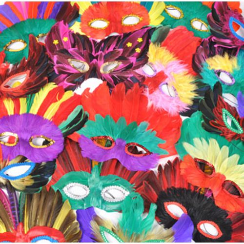 Brite Feather Mask Assortment