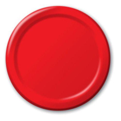 Red Dinner Plates