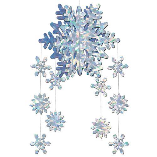 3-D Snowflake Mobile