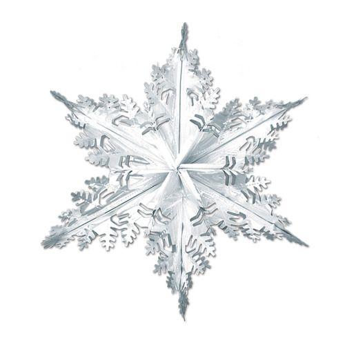 Silver Metallic Winter Snowflake