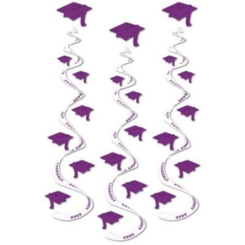 Purple Printed Grad Whirls