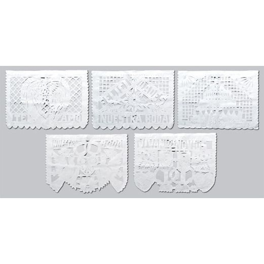 Wedding Decorations Wedding Papel Picado Banner - White Image
