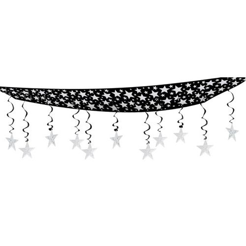 Silver Stars Are Out Ceiling Decor