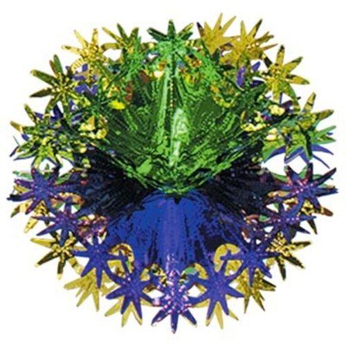"12"" Green, Gold, Purple Star Ball"