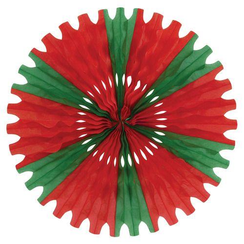 Red-Green Tissue Fan