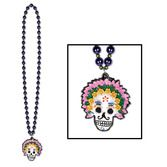 Day of the Dead Party Wear Day of the Dead Bead Necklace Image
