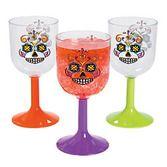 Day of the Dead Table Accessories Sugar Skulls Wine Glasses Image