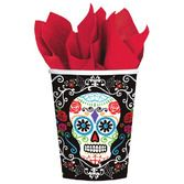 Day of the Dead Table Accessories Sugar Skull Printed Paper Cups Image