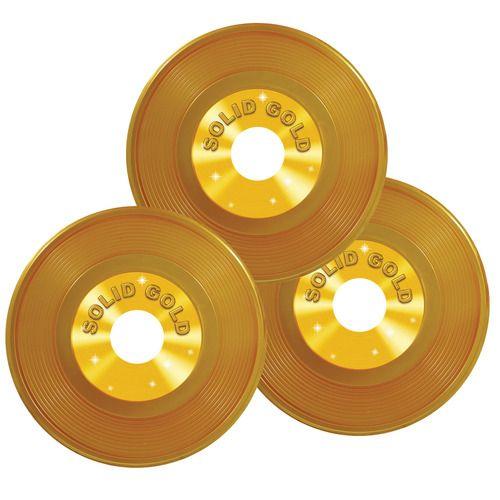 "9"" Gold Plastic Records"