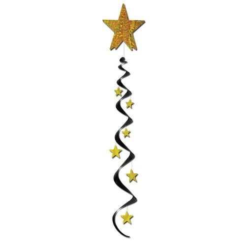 Jumbo Star Whirl Black and Gold