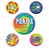 Party Wear / Costume Accessories 60's Party Buttons Image