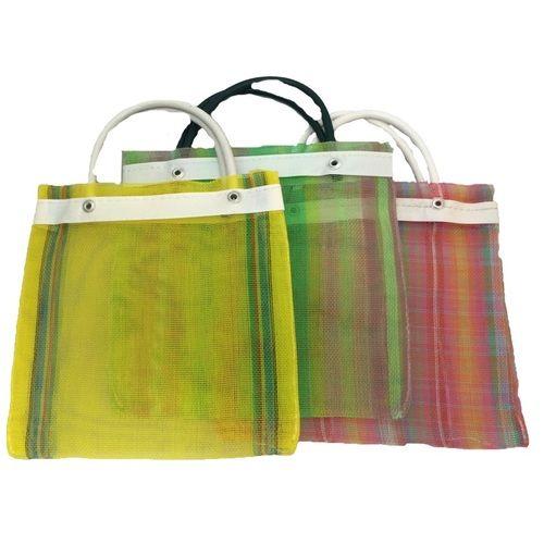 Medium Striped Mesh Bag